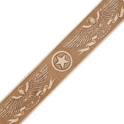 tandy leather embossed spread wing eagle belt blank 1 1 2