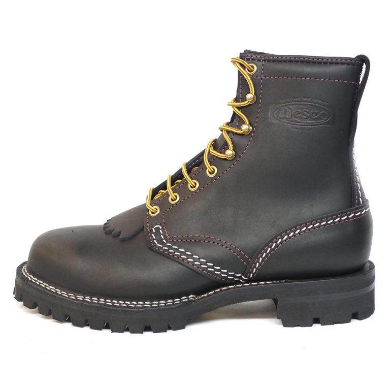 wesco custom leather boot Jobmaster vibram sole
