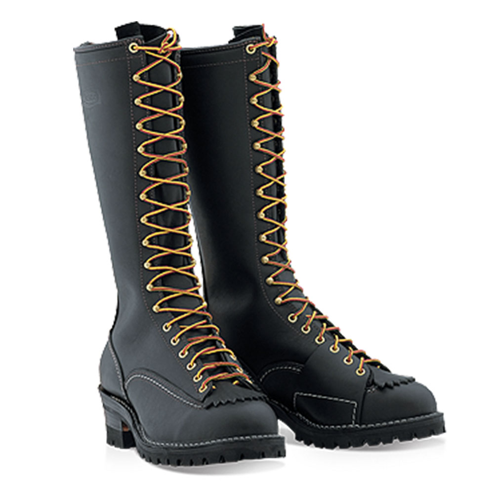 New Wesco Highliner 9716100 Men S Work Boots Black Leather