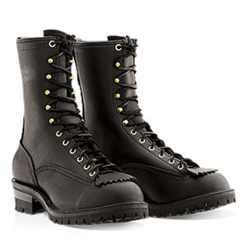 wesco custom leather boot firestomer